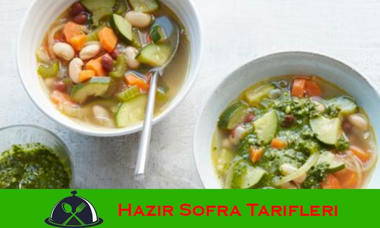 Veganlar için Pestolu Fasulye Çorbası Tarifi